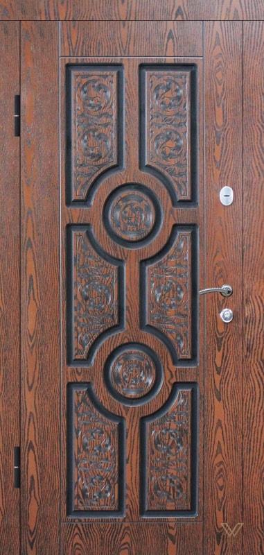 Вхідні двері з екополімерними накладками, однополі класичні