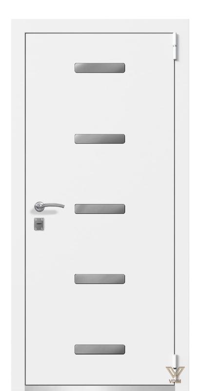 Двері металеві, білі