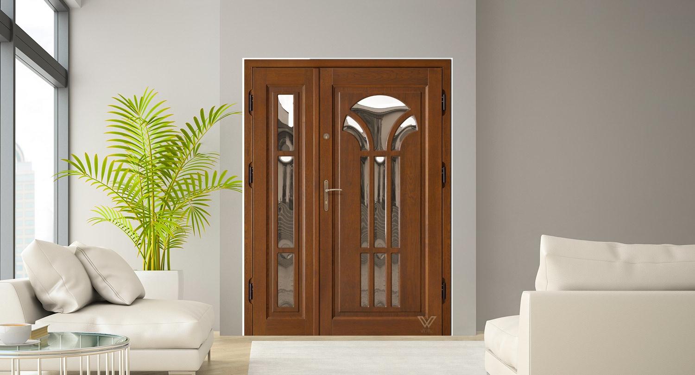 Вхідні двері з склопакетом