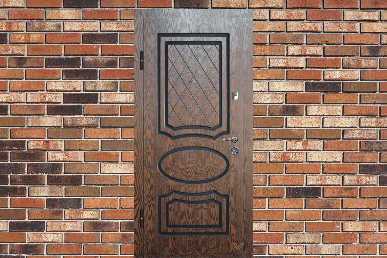 Вхідні двері з полімерними накладками, класичні