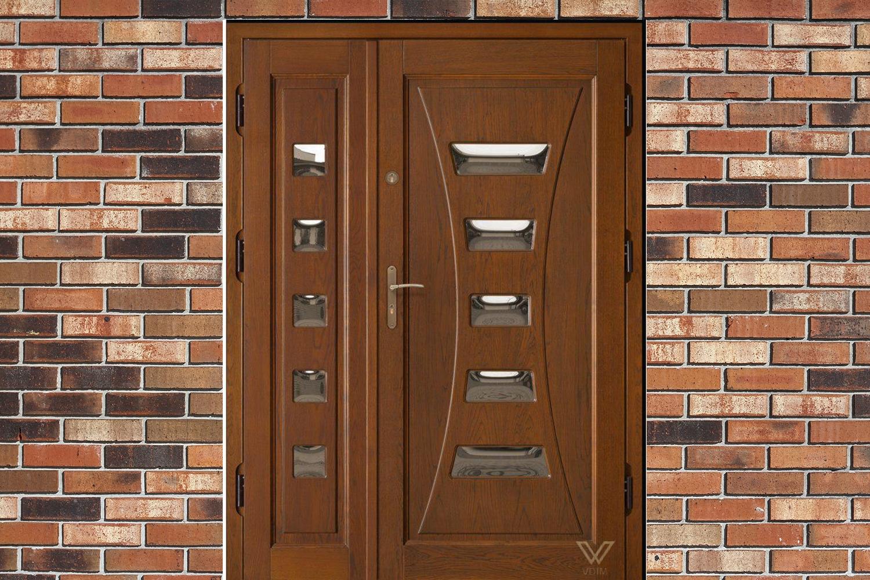Двері вхідні, двополі зі  склопакетом