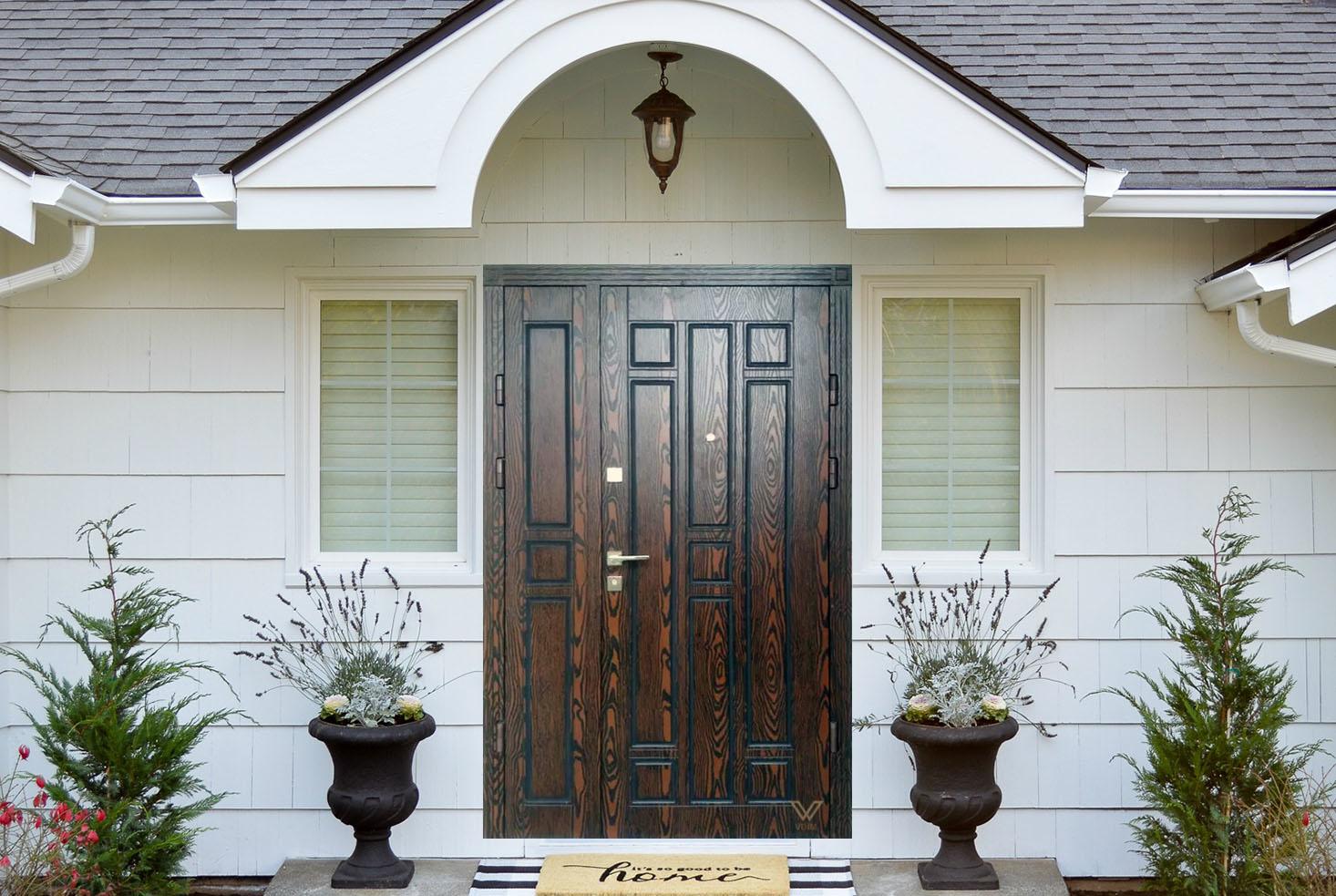 Вхідні двері з полімерними накладками, двополі